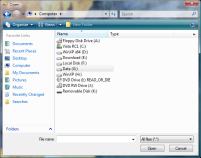 Vista style file dialog
